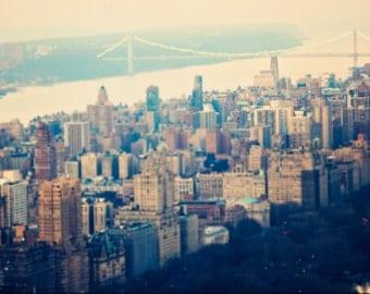 "New York City - 8x10 photograph - ""Upper West Side"" - fine art print - vintage photography - Manhattan  - New York skyline"