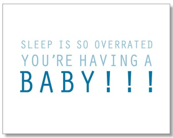 Pregnancy BABY CARD. Funny Card for a Pregnant Friend. Congratulations Baby Boy on the Way. Baby Boy Shower Card