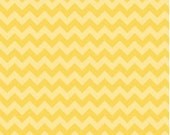 Small Chevron Tone on Tone Yellow by Riley Blake Designs Fat Quarter Cut