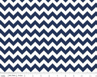 Small Chevron Navy  by Riley Blake Designs Fat Quarter Cut