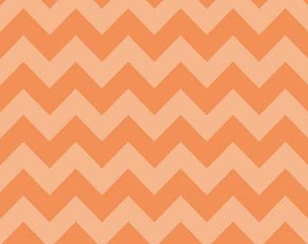 Medium Chevron Tone on Tone Orange by Riley Blake Designs Half yard cut