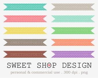 Banner Clip Art, Ribbon Clip Art, Border Clip Art, Digital Clip Art, CHEVRON20, Instant Download