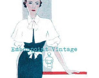 Plus Size (or any size) Vintage 1934 Cape Sewing Pattern - PDF - Pattern No 84 Josie