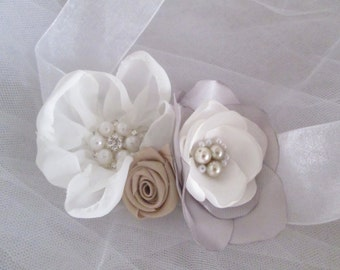 Wedding Corsage - Fabric Flowers for the Wedding Party Flowers Rustic Wedding