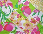 Lilly Pulitzer fabric Multi Lilly Fields Forever 18 X 18 inches