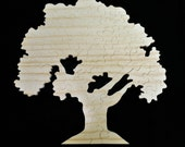 Large 18x18 inch Wedding Guest Sign In Wooden Tree Puzzle