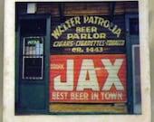Jax Beer Sign Coaster New Orleans