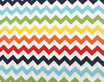 Riley Blake Fabric - 1 Fat Quarter Small Chevron in Rainbow