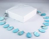Beaded Necklace in Blue and White
