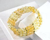 Wrap Bracelet, Memory Wire in Yellow