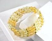 Wrap Bracelet, Memory Wire in Yellow
