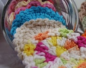 20 Facial Scrubbies, Assorted Colors and Styles, Multi Pack, 100% Cotton, Eco Friendly, Bridesmaid Gift
