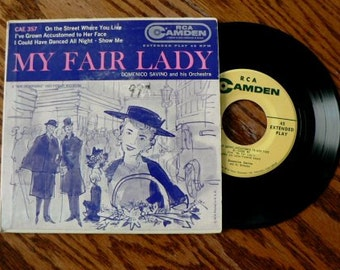 vintage Tunes ... My FAIR LADY 45 RECORD in Sleeve ...