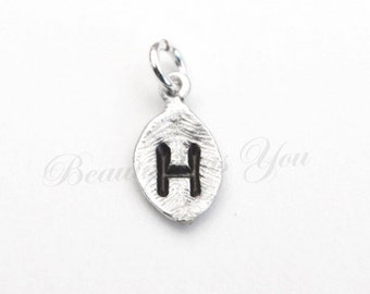 Add On Initial Leaf Charm in Silver, Gold or Rose Gold.