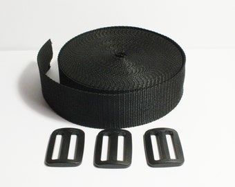 belt strap, bag kit, black, 4 cm depth