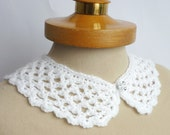 White Peter Pan Collar, Crochet Collar, White color, Lace Collar, Detachable Collar Necklace, White crochet Collar,