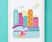 Hong Kong Art Print for Nursery or Children's Room Decor