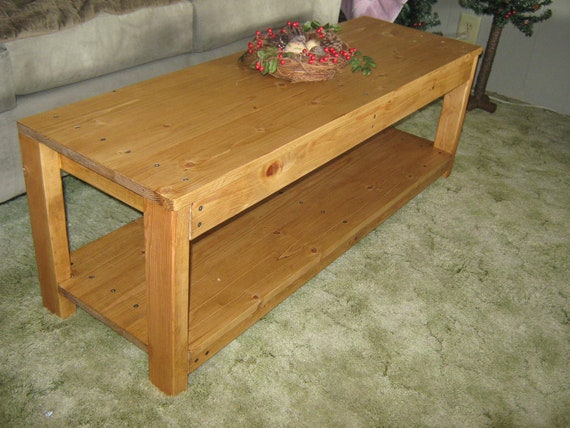 Diy Plans To Make Long Wooden Coffee Table By Wingstoshop