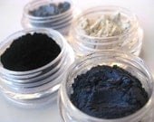 EYECANDY 4 color coordinated mineral eyeshadows. SMOKEY BLUES