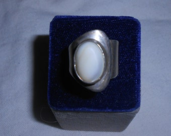 Mexican Sterling Silver and  Moonstone Ring