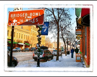 "The Bozeman Series: ""Bridger Bowl 16 Miles"" Photographic Print - Downtown Bozeman, Montana"