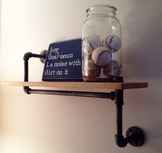 Industrial Pipe Curio Shelf