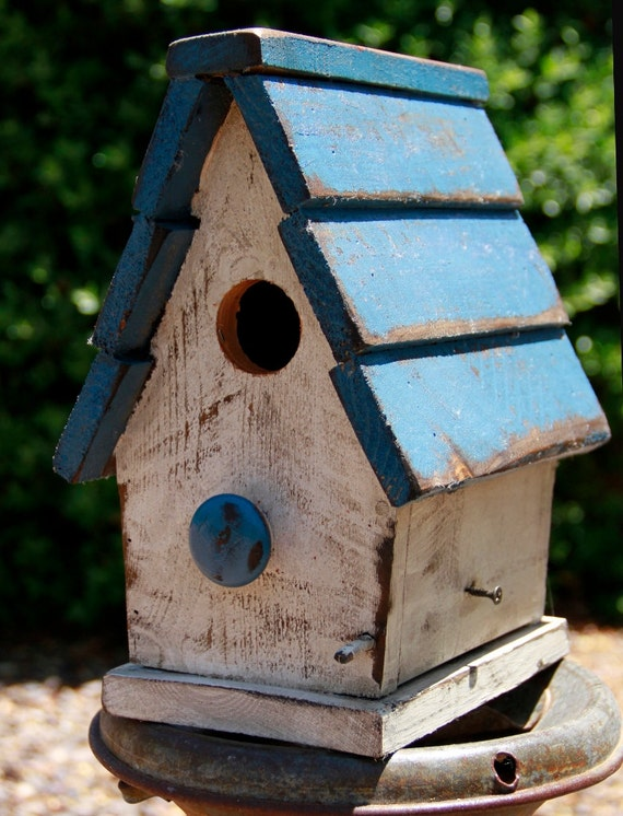 Primitive Bird House Antique Style Bird House Functional