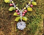Summer Berries-Fine-Silver-Gemstone-Necklace
