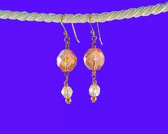 Blush-Pink-Crystal Dream-Czech-Glass-Copper-Earrings
