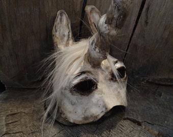 Masquerade masks paper mache horse Unicorn mask