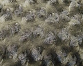 Minky Cuddle Rosebud Grey Fabric by the yard - 1 Yard