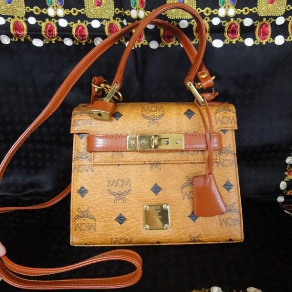hermes pocketbooks - Vintage MCM kelly handbag classic brown monogram purse by eNdApPi