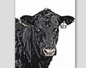 Cow 424 Card, Birthday Card, Thank You Card, Farm animals, Animal card, Funny card, Cards for Him, Card for Dad, Card for Brother, Congrats