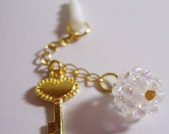 Kawaii Key chain Earphone plug. Handmade
