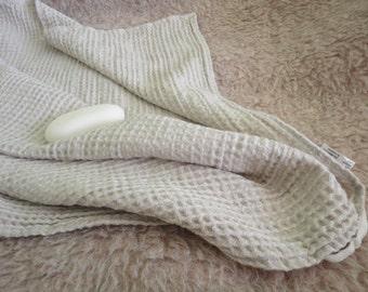 Bathroom towel 2 sizes linen sauna towel  natural,linen bath sheet, eco friendly, waffle linen towel