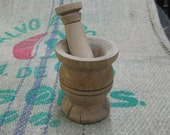 rustic wild cherry mortar and  willow pestle