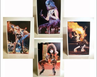 KISS Collectibles Memorabilia - KISS Set Of 4 Alive II Poster Stand-Up Displays Gene Simmons Paul Stanley Ace Frehley Peter Criss Record