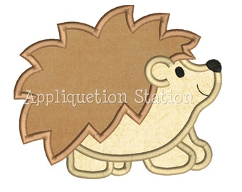 Hedgehog Applique Machine Embroidery Design baby animal woodland INSTANT DOWNLOAD