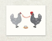 Greeting Card, Chicken Roost