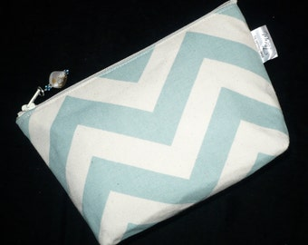 Chevron Cosmetic - Makeup Bag - Purse Pouch - makeup Case - Handmade