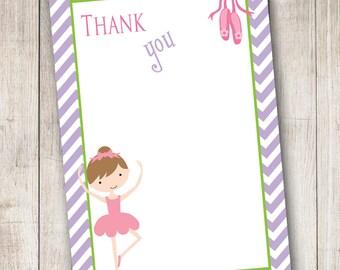 Ballerina 4 Thank You Card - Digital File - INSTANT DOWNLOAD