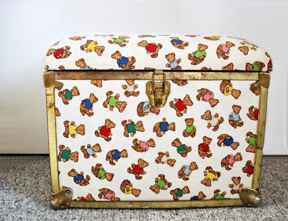 Childrens Jumbo Bedroom Room Tidy Toy Storage Chest Box Trunk: Vintage Toy Box/ Teddy Bear Chest/ Kids Storage/ By