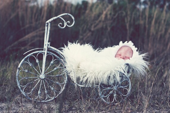 Weathered White Tricycle Infant/Baby Photography Prop