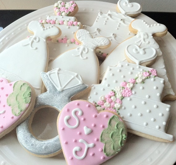 decorated wedding cake cookies items similar to decorated wedding themed cookies cakes 13376