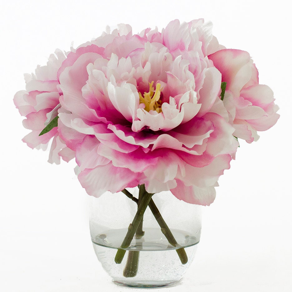 Flash sale 47usd now 37usd silk peonies arrangement with zoom dhlflorist Images