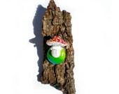 Cute Mushroom Brooch, Pinback Button, Toadstool, Amanita Muscaria