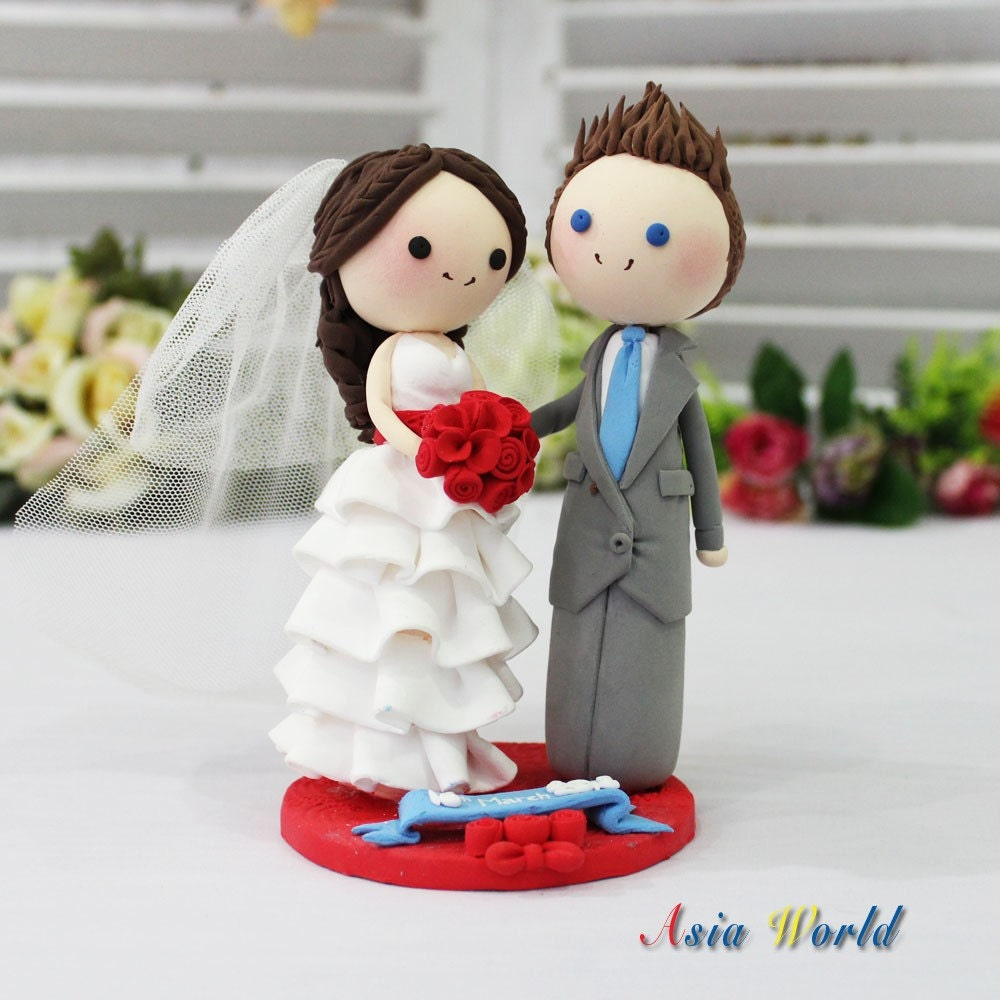 couple wedding cake wedding cake topper clay mini in beautiful white wedding 13016