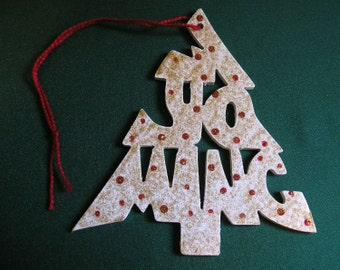 Wyoming ornament, tree shaped