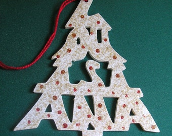Louisiana ornament, tree shaped