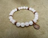 Love-Rose Quart Gemstone Stretch Bracelet